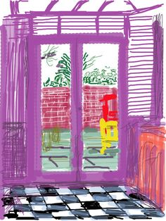 "iPad drawing by David Hockney! So cool! He says ""Van Gogh would have loved the iPad"""