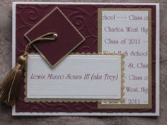 Graduation Announcement by Craft On Cue.  A personalized announcement to send to family and friends is always the best!  Incorporate the school colors with cardstock purchased from www.cardstockshop.com.  Hundreds of colors available today!