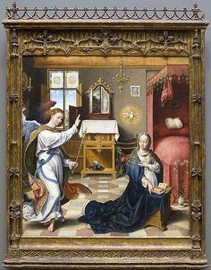The Annunciation by Joos van Cleve (MetMuseum)