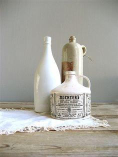 Vintage Whiskey Bottle by lovintagefinds on Etsy, $32.00