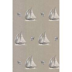 Brewster Neutral Sailboat Wallpaper