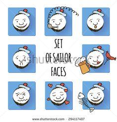 http://www.shutterstock.com/ru/pic-294117407/stock-vector-set-of-sailor-faces-smiles-fun.html?rid=1558271