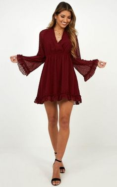 Stay Forever Dress In Wine Unique Dresses, Cute Dresses, Casual Dresses, Short Dresses, Fashion Dresses, Clubbing Dresses, Short Outfits, Sexy Outfits, Women's Dresses