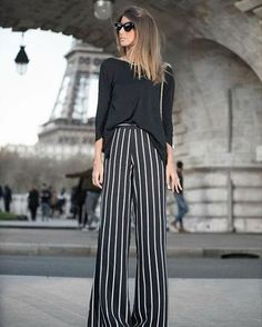 How to Style Paperbag Pants – The Asterisk Boutique Blazer Outfits, Pants Outfit, Stylish Outfits, Fashion Pants, Fashion Outfits, Funky Pants, Stripped Pants, Paperbag Pants, Donia