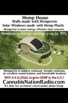 House made of hemp: Enviro friendly, energy saving and... IT'S MADE OF #HEMP!