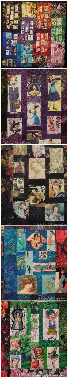 Blossoms, A Tribute to Women in Fabric by Peggy Fetterhoff, Texas, U.S.A. (via Quilt Inspiration)