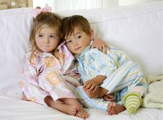 Classic and sweet kids' pajamas from Annette Tatum