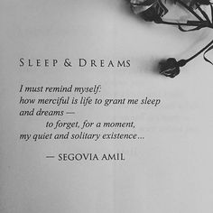 """Sleep & Dreams"" written by Segovia Amil  As the hour draws near for me to release #OpheliaWearsBlack into the world and watch it live out its own little book life, out of my hands, I become increasingly overwhelmed, sensitive and engulfed in feelings I have never felt before. I think of what force it will continue with and where. I think of how it will survive. I think of it, as though it is my own heart — which once rested in one place, inside of my body, safe between a cage of bone…"