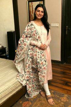 Pakistani dresses - sajanre new designer wear reyon cotton with heavy chain work salwar suit Pakistani Dress Design, Pakistani Outfits, Dress Indian Style, Indian Dresses, Dresses Dresses, Stylish Dresses, Indian Wedding Outfits, Indian Outfits, Kurta Designs Women