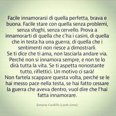 Spero di riuscire a spegnere quella tempesta che hai in testa. Italian Phrases, Broken Soul, Tumblr Love, Cute Love Quotes, Sweet Words, Note To Self, Life Inspiration, Daily Quotes, Beautiful Words
