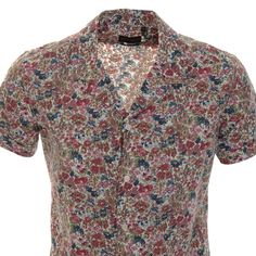 Antony Morato > Antony Morato Floral Bowling Shirt Pink > Antony Morato Shirts Polo Shirts Mens Designer Shirts Online @ Mainline Menswear Official Stockists Of All Antony Morato Mens Shirts Designer Clothes Online UK Next Day Delivery