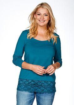 Typ , Longshirt, |Materialzusammensetzung , 95% Baumwolle, 5% Elasthan. Spitze: 90% Polyamid, 10% Elasthan/td>, |Gesamtlänge , Größenangepasste Länge von 76 cm bis 84 cm, | ...