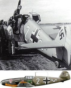 """Johann """"Hans"""" Halfmann enters the cockpit of his Messerschmitt Bf 109 F-4 of 7./JG 54 at Kotly, Finland, in July 1942. He had been credited of 13 confirmed victories."""