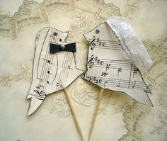 Items similar to Ready to Ship Wedding cake topper, recycled sheet music, love birds, eco-friendly, music wedding cake topper on Etsy Music Wedding Cakes, Music Cakes, Floral Wedding Cakes, Lace Wedding Invitations, Wedding Themes, Wedding Ideas, Wedding Birds, Invites, Wedding Inspiration
