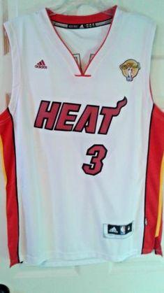 Adidas NBA Jersey Miami Heat Dwayne Wade White Nickname Size M aacd01a8f