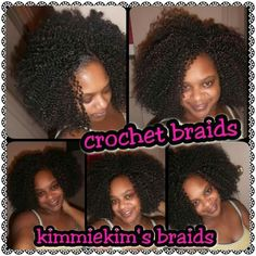Crochet braids... On me ..done by me!! Freetress bohemian bulk