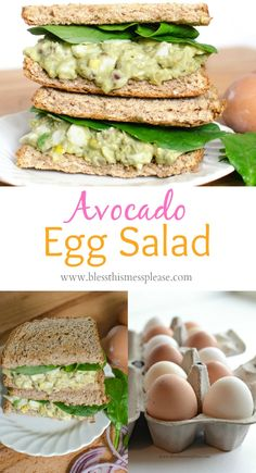 Quick and delicious Avocado Egg Salad recipe is a game changer! SO amazing!