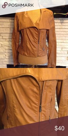 💎💎gently worn Nicole Miller jacket💎💎 Cute motorcycle jacket all of the zippers work worn a handful of times Nicole by Nicole Miller Jackets & Coats Utility Jackets