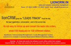 Lion CRM Software is a #sales and #customer #relationship #management #software which includes #telemarketing & #leads #management it can enhance your customer relationship. Marketing Software, Business Marketing, Lead Management, Customer Relationship Management, Cloud Based, Lion, Leo, Lions