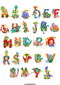 free clip vector category designs elements Dinosaur Classroom, Dinosaur Alphabet, Dinosaur Crafts, Dragon Birthday Parties, Dinosaur Birthday Party, Dinosaur Printables, Baby Dinosaurs, Art Drawings For Kids, Graffiti Lettering