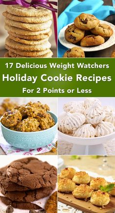 17 Delicious Weight Watchers Holiday Cookie Recipes with 2 Points or Less including Chocolate Chip, Pumpkin Spice, Oatmeal Raisin, Butterscotch, Nutella Thumbprints, Coconut Macaroons, Maple, Peanut Butter, Caramel, Funfetti, and more!