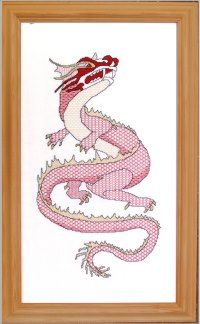 Blackwork oriental dragon designed by Carol Leather. Available as a downloadable pattern from http://www.needlework-tips-and-techniques.com