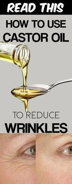 Use castor oil for wrinkles on face, under eyes and on forehead. Blend it with olive oil or jojoba oil or sesame oil to apply it over the skin. Beauty Care, Diy Beauty, Beauty Skin, Beauty Hacks, Health And Beauty, Beauty Tips, Beauty Products, Face Beauty, Homemade Beauty