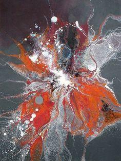 A découvrir au 3ème Salon de Peinture Abstraite sur www.myrankart.com  Effervescence Abyssale by Laurent Jargot