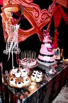 Final results of my daughter's Sweet 16 masquerade party! Center ...