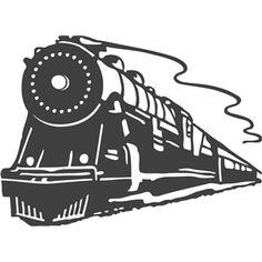 Silhouette Design Store - View Design #8350: vintage train