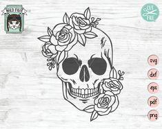 tattoo designs, tattoo ideas, tattoos for women small, tatto Floral Skull Tattoos, Tribal Tattoos, Skull Tattoo Flowers, Skull Tattoo Design, Flower Skull, Small Skull Tattoo, Art Tattoos, Sugar Skull Design, Butterfly Tattoos