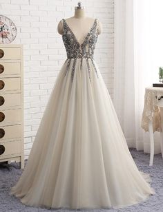 V-Neck Backless Prom Dress,Long Prom Dresses,Cheap Prom Dresses, Evening Dress Prom Gowns, Formal Women Dress,Prom Dress