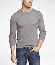 Merino Wool Both Greys and Office Blue Size Large