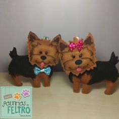cachorro yorkshire de feltro - Pesquisa Google