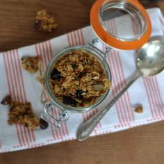 Maple-Olive Oil Granola with Cocoa Nibs, Hazelnuts and Dried Cherries || www.turntablekitchen.com