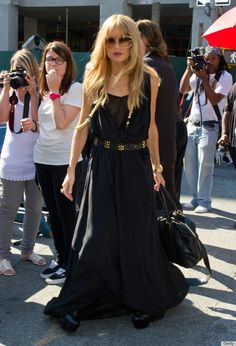 black maxi dress---can be accessorized so many ways-rachel zoe's go-to dress.....i like!