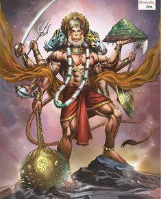 Lord Shiva as Nataraj in creative art painting Hanuman Photos, Hanuman Images, Lord Krishna Images, Hanuman Ji Wallpapers, Lord Vishnu Wallpapers, Shri Ram Wallpaper, Shiva Tandav, Hanuman Chalisa, Durga
