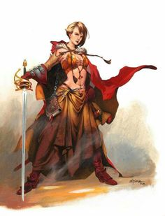 Dungeons and Dragons — Jesper Ejsing Illustration Fantasy Warrior, Fantasy Races, Fantasy Rpg, Medieval Fantasy, Fantasy Artwork, Dnd Characters, Fantasy Characters, Female Characters, Female Character Concept