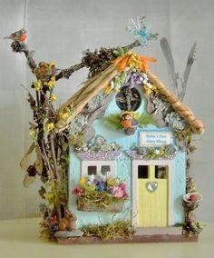 Fairy Garden Miniature Doll ROBIN'S NEST FLOWER FAIRY HOUSE for SPRING SUMMER ~ $110 eBay: peaceofmindemporium