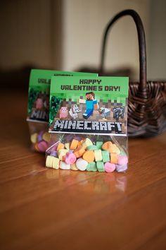 Minecraft Inspired Valentine's Day Photo Treat Bag by zoeyluna