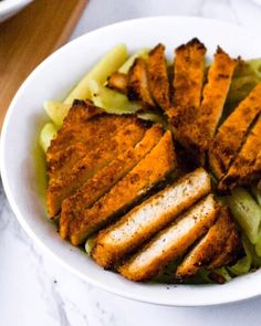 These Tequila Lime Tofu Cutlets are perfect for tofu tacos, quesadillas, or Mexican-inspired dinner bowls and salads! They are easy to make with a quick tequila-infused chili lime marinade, and slow-baked until they are crispy on the outside and meaty on the inside! You'll love to add this healthy tofu recipe for your weekly meal prep. They are freezer-friendly too! #tofu #veganuary #plantbased #vegan Plant Based Diet, Plant Based Recipes, Veggie Recipes, Tofu Marinade, Marinated Tofu, Vegetarian Day, Vegetarian Recipes, Vegan Chicken Parmesan Recipe, Tofu Tacos