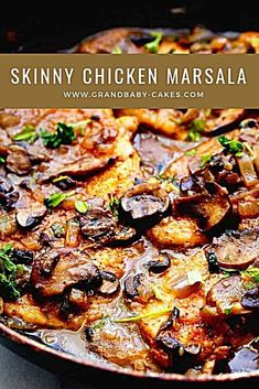Looking for healthy chicken recipes? Try this Healthy Chicken Marsala.This delicious skinny chicken marsala from is lightened up on fat but not flavor! Skinny Taste Crockpot, Skinny Taste Chicken, Weight Watchers Chicken Marsala Recipe, Skinny Recipes, Healthy Dinner Recipes, Chicken Marsala Crockpot, Cheap Chicken Recipes, Healthy Eating, Meals