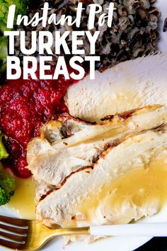 Ready for the juiciest, most delectable turkey you'll ever taste? Cook this Herb-Roasted Instant Pot Turkey Breast from fresh or frozen in under an hour! Best Instapot Recipes, Crockpot Recipes, Turkey Dishes, Turkey Recipes, Instant Pot Pressure Cooker, Pressure Cooker Recipes, Instant Pot Turkey Breast Recipe, Cooking A Frozen Turkey, Gravy Packet
