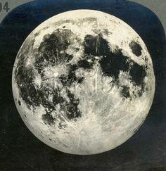 Astronomy Full Moon from Yerkes Observatory Stereoview 16648 VE594E F FX NT | eBay