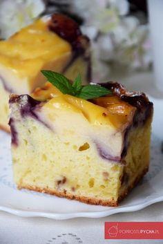 Ciasto jogurtowe z budyniem i owocami Cake Recipes, Dessert Recipes, Dessert Ideas, Polish Recipes, Polish Food, Healthy Cake, Cakes And More, Oreo, French Toast