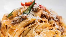 Tender and smokey lamb neck ragu that will melt in your mouth Ragu Recipe, Parmesan Pasta, Melt In Your Mouth, Tomato Paste, Lamb, Food And Drink, Cooking Recipes, Meals, Dishes