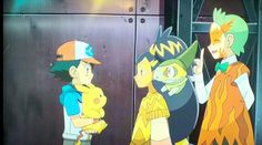 Cilan in the BG and Ash and iris are like- <3