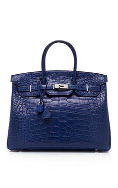 Vintage Hermes from Heritage Auctions 35Cm Bleu De Malte Matte Alligator Birkin
