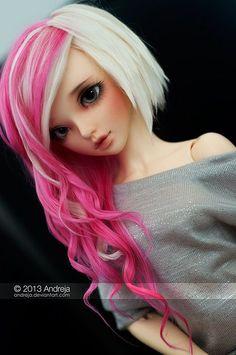 multicolor hair minifee