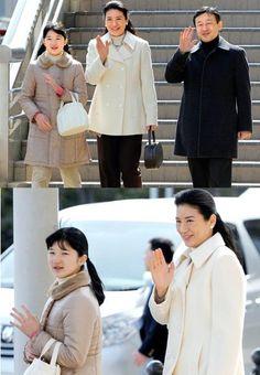Crown Prince Naruhito and Crown Princess Masako and their daughter Princess Aiko visit Nagano Station